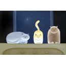 Three porcelain cats